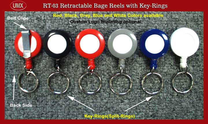 A1 RT-03 Retractable Reels with Key-Rings(Keyrings)