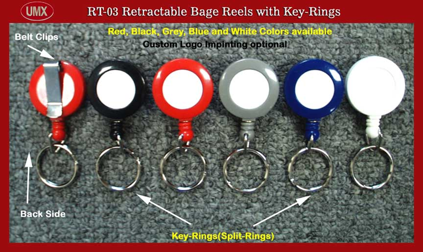 RT-03 Retractable Reel with Key-Ring(Keyring)