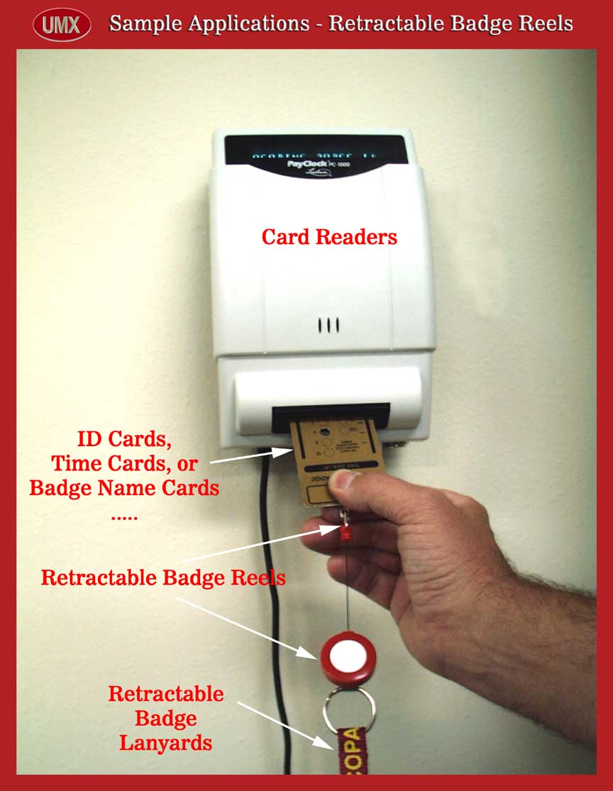 Samples - ID Card Reader with retractable ID Card Reel or Badge Holder