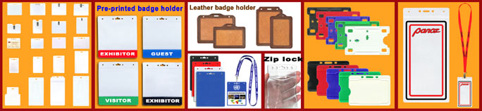 Suppliers, wholesalers, designers and manufactureres of badge holders, ID card, Plastic name badge, name tag, sports ticket and ID badge holder supplies. Making name badges and ID holders for school, college or university student, convention, trade show giveaway, exhibit, EXPO, corporation, state or federal government employee, military, event, meeting, sporting, seminar, concert, party, hospital, nursing home, church, chain store, membership, fundraising, business, and company security ID badge systems etc.