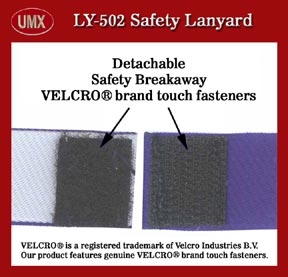 velcro safety breakaway lanyard 502d