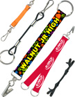 2-end, 3-end and multiple end leashes or lanyards.