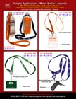 Sports Lanyard: Bottled Water Lanyard, Water Bottle Lanyards with Rubber Rings.