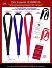 "1"" Wide: Eye Catching, Heavy Duty and Economic Plain Lanyards - For Sporting Ticket, Event Pin or ID Name Badge Holders"