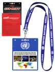 Plain or Custom Printed Color Badge Holders For Convention Name Badges.