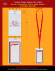Complete Set of Custom ID Holders With Custom Logo Imprinted Lanyards For ID Cards.